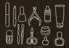 Free vector Hand Drawn Manicure Pedicure Vector Icons #13979
