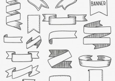 Free vector Hand drawn retro banners #17986