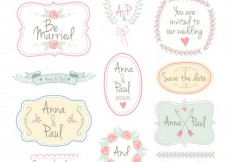 Free vector Hand drawn wedding frames and labels #18604