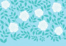 Free vector Hand drawn white roses background #12285