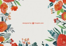 Free vector Hand painted floral frame #18163