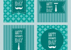 Free vector Happy fathers day cards #18121