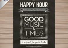 Free vector Happy hour poster #17605