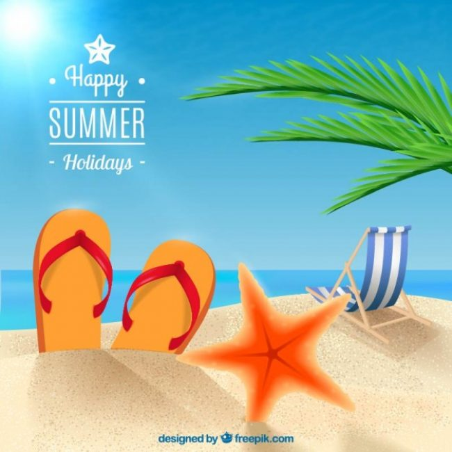 Free Vector Happy Summer Holidays Background 15192