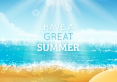 Free vector Have a great summer background #14902
