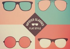Free vector Hipster glasses in flat style #15821
