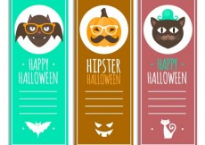 Free vector Hipster halloween banners #15856