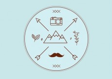 Free vector Hipster Vector Badge #14644