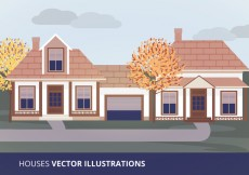 Free vector Houses Vector Illustration #15722