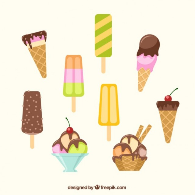 Free vector Ice creams collection #19690