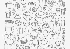 Free vector Icons of sketchy food #17087
