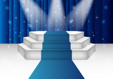 Free vector Illuminated stage podium #17315