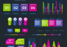 Free vector Infographic charts set #16525