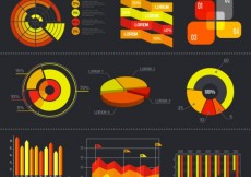 Free vector Infographic diagrams set #16282