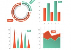 Free vector infographic statistic charts #14994
