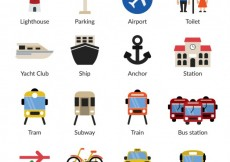 Free vector Infrastucture and transport icons #18831