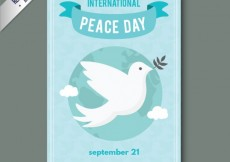 Free vector international peace day flyer #14885