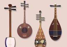 Free vector Japanese musical instruments #16377