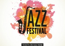 Free vector Jazz festival poster #19740