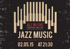 Free vector Jazz music poster #12759