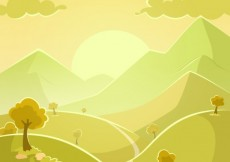 Free vector Landscape in green tones #19352