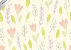 Free vector Leaves and flowers pattern #13686
