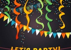 Free vector let's party background #12505