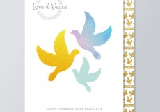 Free vector Love and peace cards #15689
