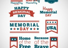 Free vector memorial day badges #18336