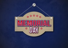 Free vector Memorial day sign hanging on a chain #16220