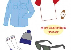 Free vector Men clothing pack #16473