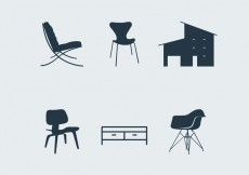 Free vector Midcentury modern furniture #15832
