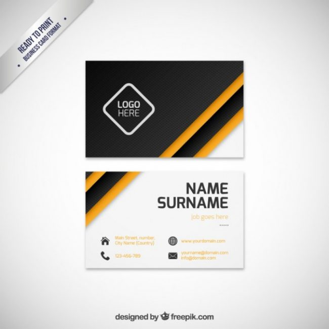 Free Vector Modern Business Card Template 16309 My Graphic Hunt