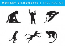 Free vector Monkey Silhouette Vector Free #14648
