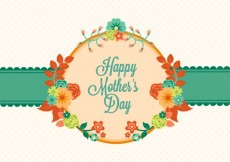 Free vector Mothers day card with flowers #19864