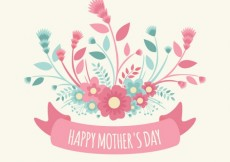 Free vector Mothers day greeting with flowers #17640