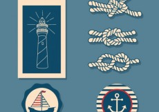 Free vector Nautical labels  #14355