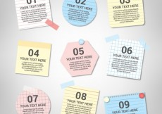 Free vector Notes collection with sticky tape #16997