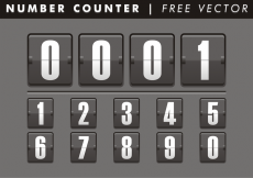 Free vector Number Counter Free Vector #14220