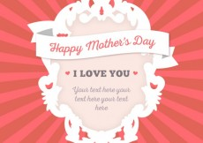 Free vector Ornamental frame for mothers day #17510