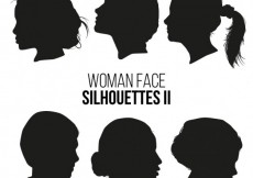Free vector Pack of woman silhouettes #16479