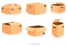 Free vector Packing Boxes Vector Icons #19943