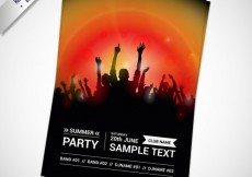 Free vector Party flyer template #13238