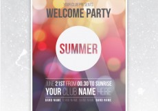 Free vector Party poster with bokeh background #18030