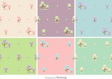 Free vector Pastel Forest Vector Backgrounds #17224
