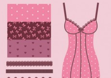 Free vector Patterns and brushes for lingerie designs #17151