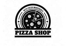 Free vector Pizza shop badge #17371