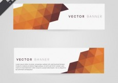 Free vector Polygonal banners in autumnal tones #19436