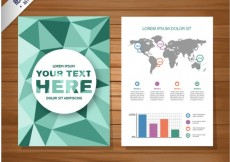 Free vector Polygonal brochure #14060