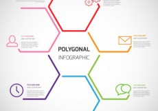 Free vector Polygonal infographic #15218